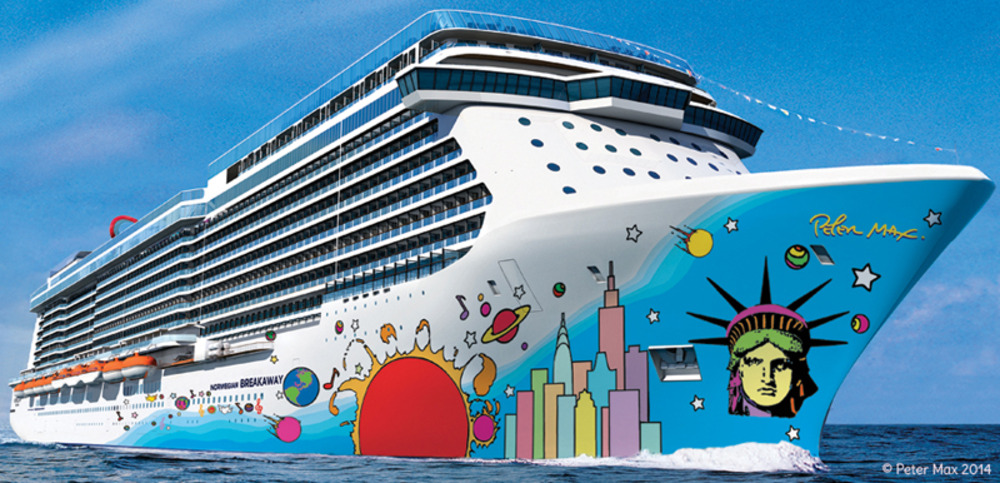 Large norwegian breakaway ship