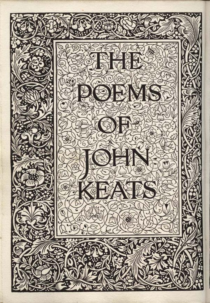 Large wm kelmscottpress keats