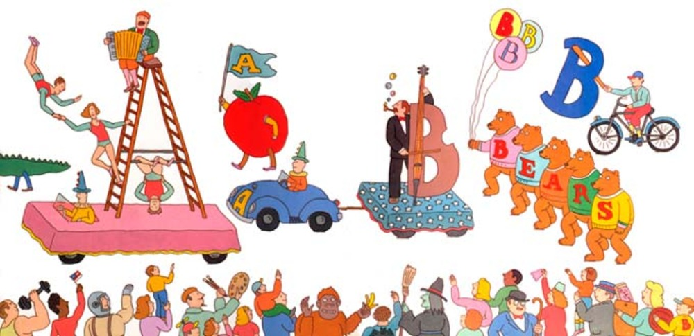 Large alphabet parade letter b