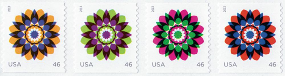 Large kapitza usps stamps
