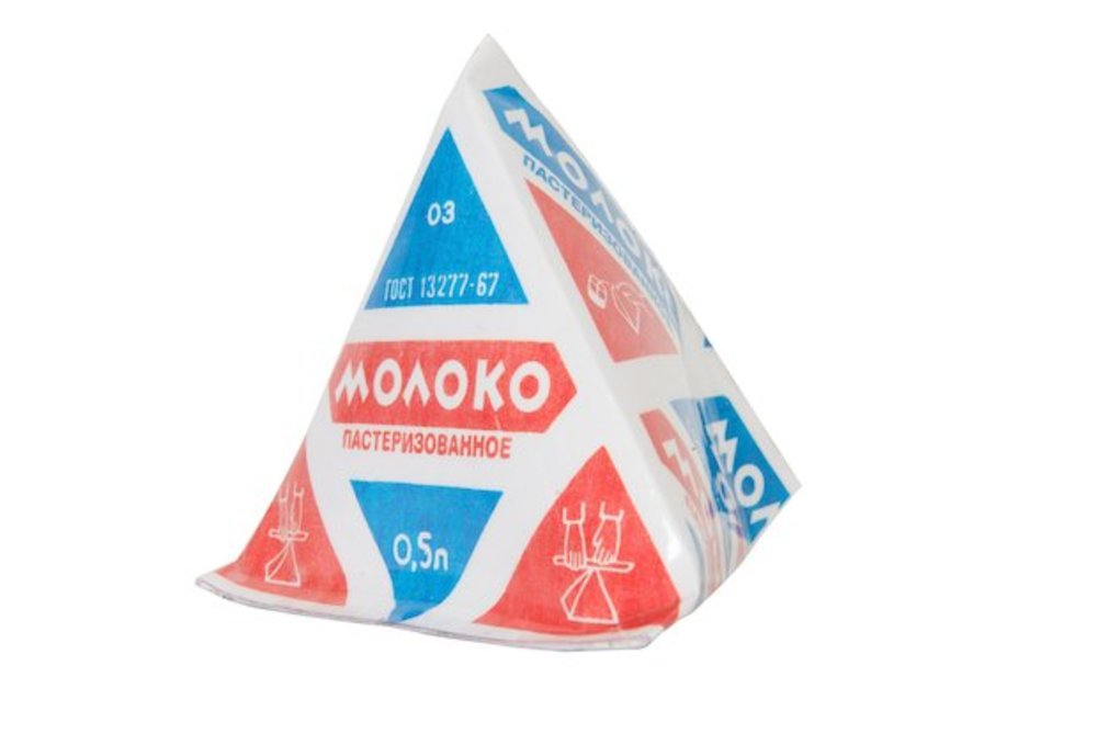 Large l pyramid packaging for dairy products   2009 replica   produced from 1959  courtesy grad and moscow design museum