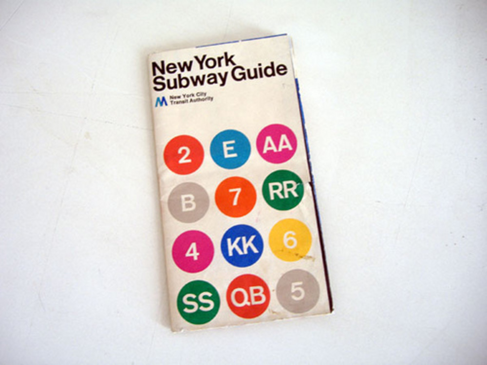 Massimo Vignelli 1972 Nyc Subway Map.Rapid Transport Grafik