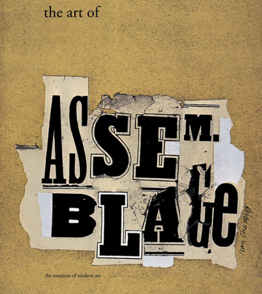 Large art of assemblage book jacket moma 1961