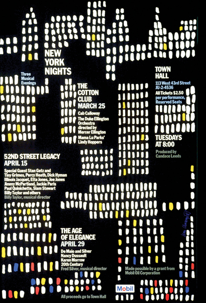 Large mobil new york nights mobil poster 1975