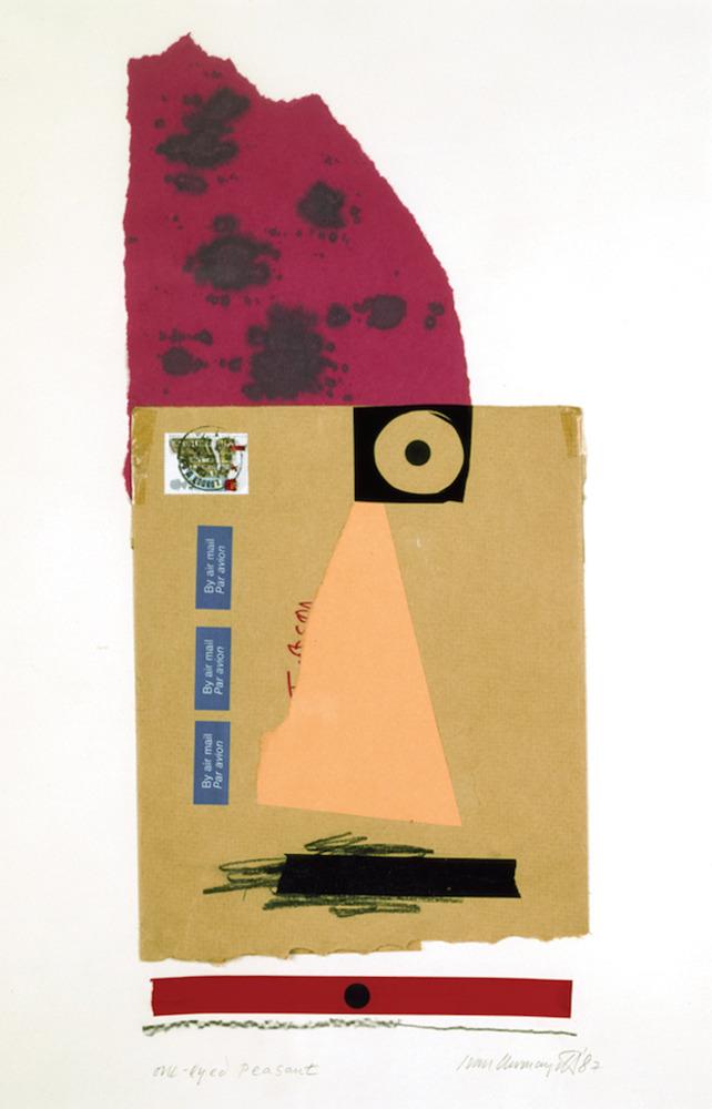 Large one eyed peasant iris print 1987