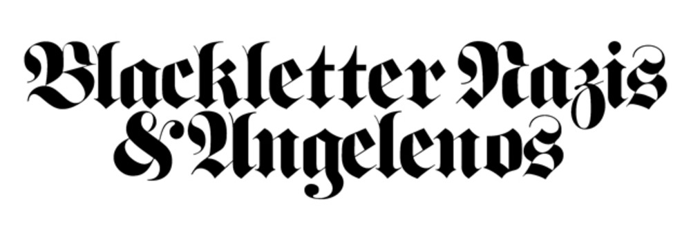 Large blackletter masthead