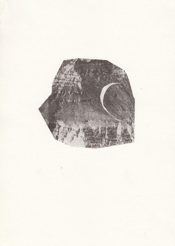 Large  c rock   screenprint  2013  fran gordon