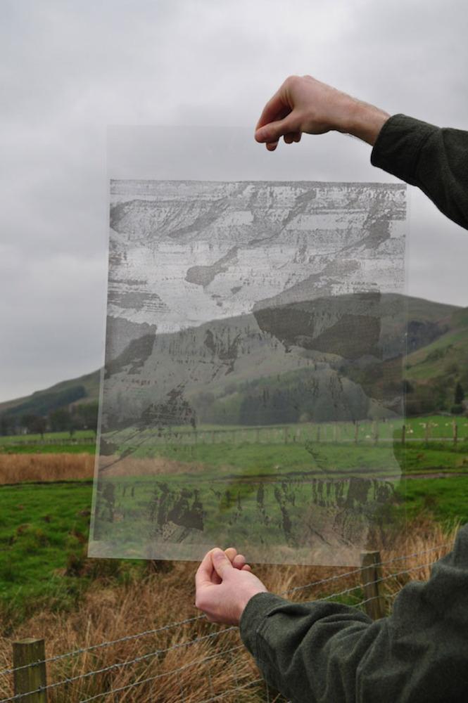 Large  grand canyon   screenprint on acetate  photograph  2014  fran gordon