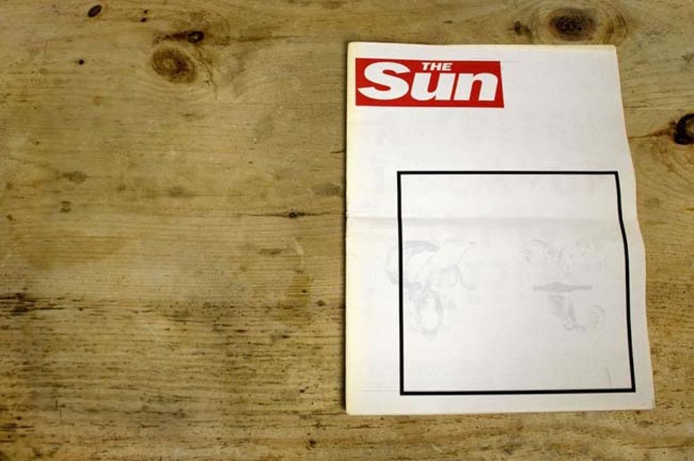 Large neutrality vs sensationalism newspaper cover 1. 2012.