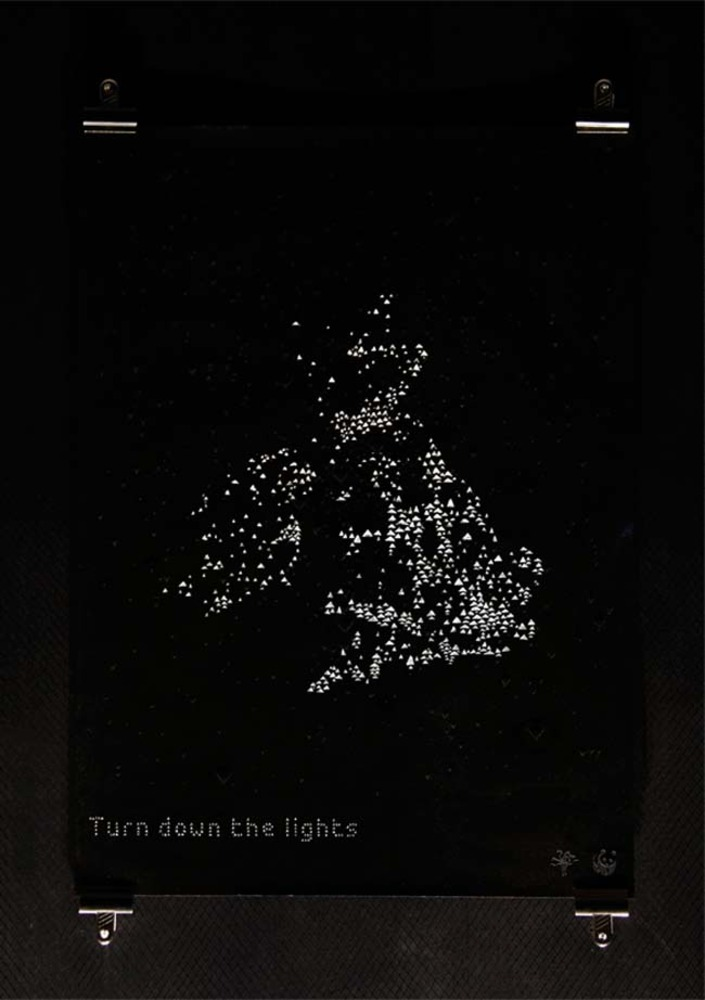 Large wwf earth hour poster