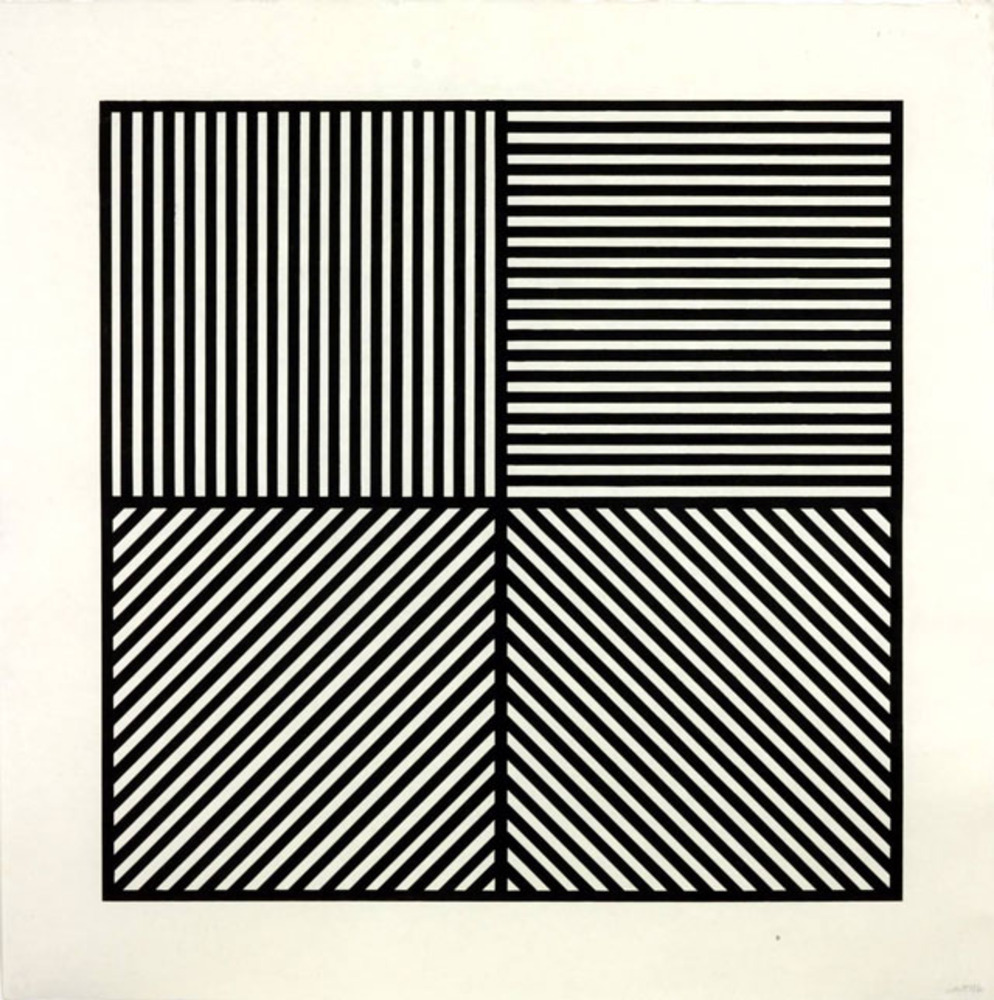 Large lewitt   a square divided horizontally and vertically  1982