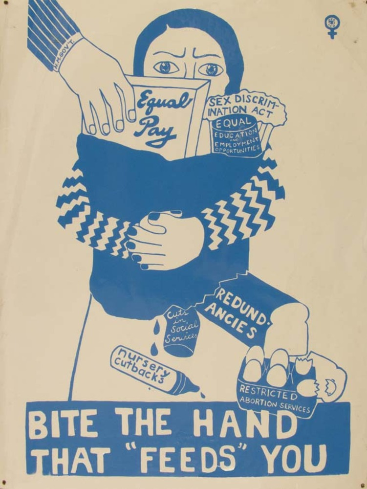 Large bite the hand     see red women s workshop c.1975