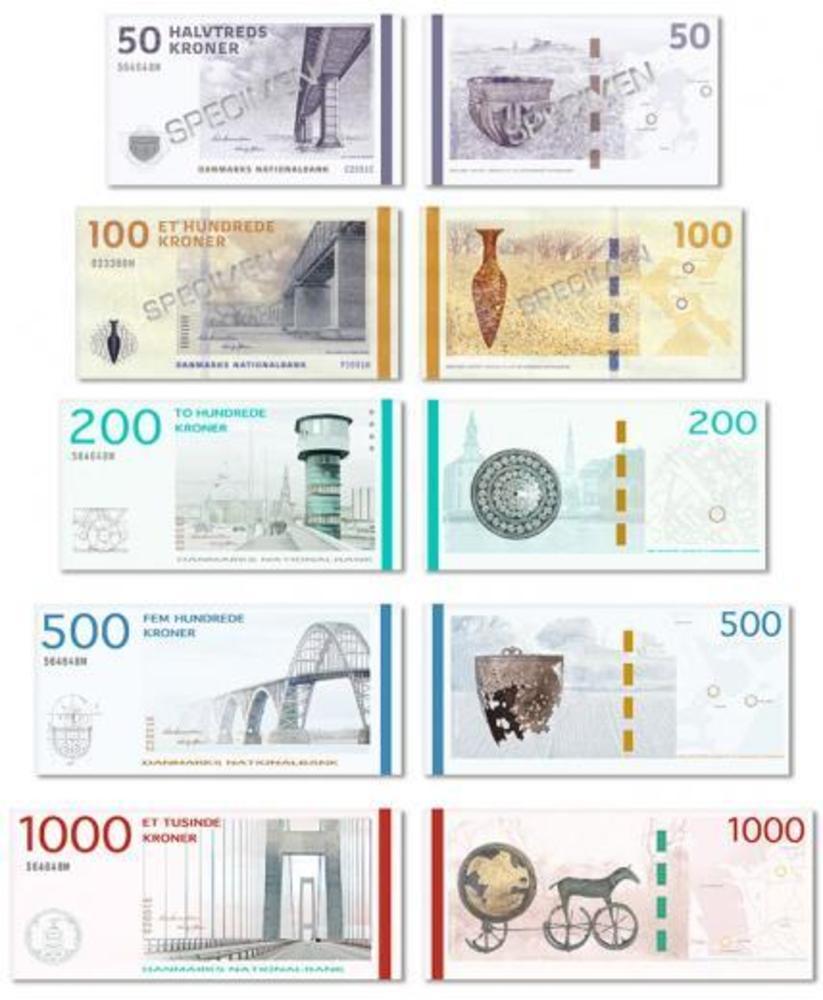 Large dkk new banknotes