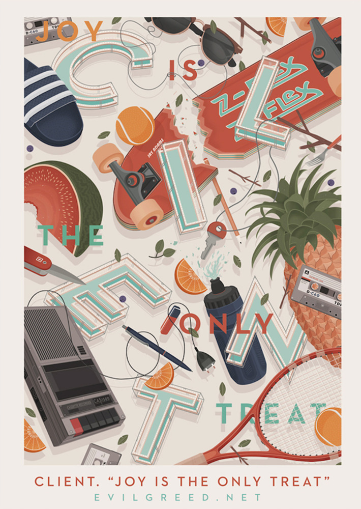Large client joy is the only treat poster 2014