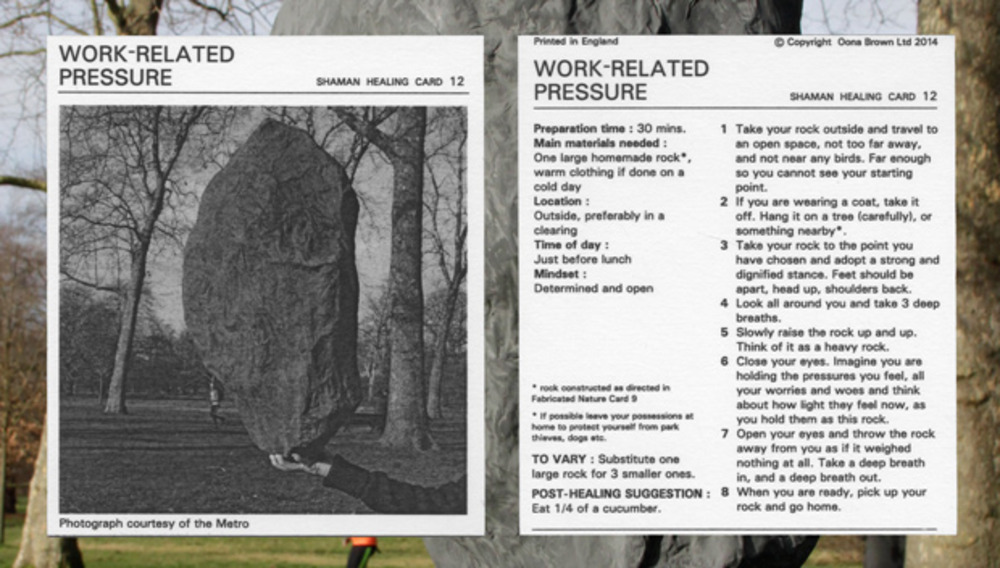 Large oona brown shaman healing card   work related pressure