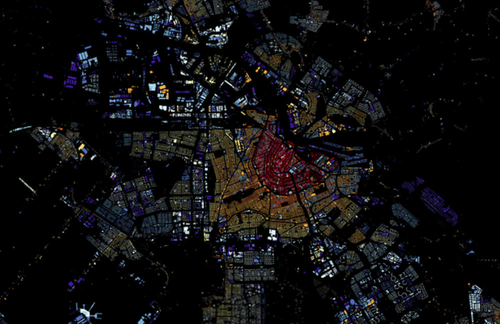 Developer At Waag Society Made An Interactive Map Of All 9 866 539 Buildings In The Netherlands Coloured According To The Year Of Their Construction